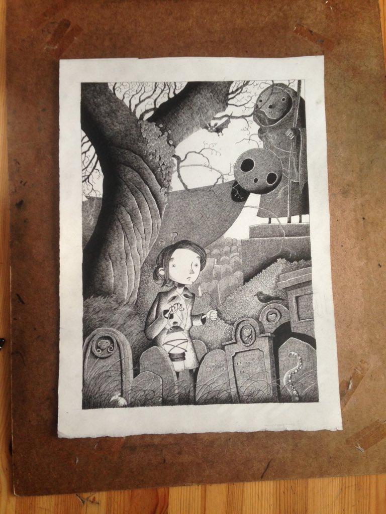 Finally all done inks on the first Marrowbones illustration. https://t.co/k9CrFJNuQo