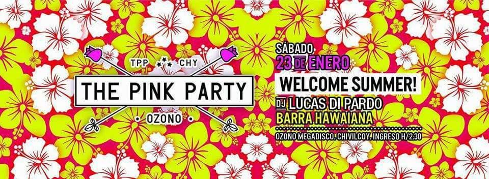 Este sábado voy a estar en @pinkpartyozono Hawaiana con todos los éxitos de la costa