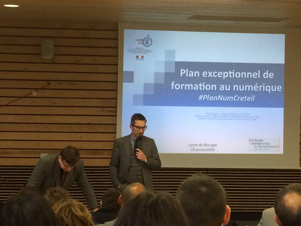 Ouverture de la 3eme journée départementale du #PlanNumCreteil par @PhilRoederer et @FredLevas @DANECreteil https://t.co/fsih1BTlr9