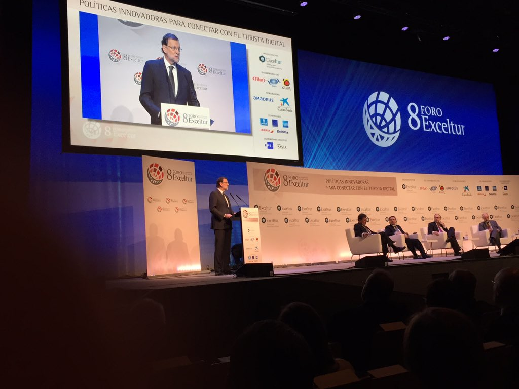 Presidente @marianorajoy en #Exceltur #FITUR2016 https://t.co/zszZcLZs7V