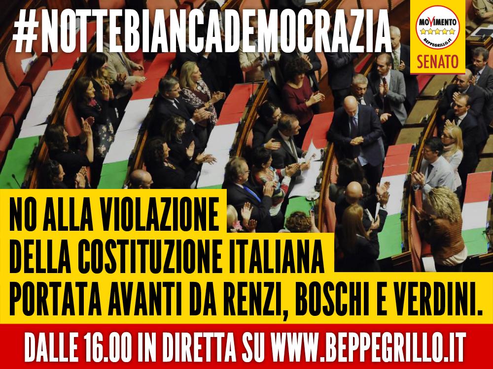 Nottebiancademocrazia who is talking about for Diretta parlamento oggi