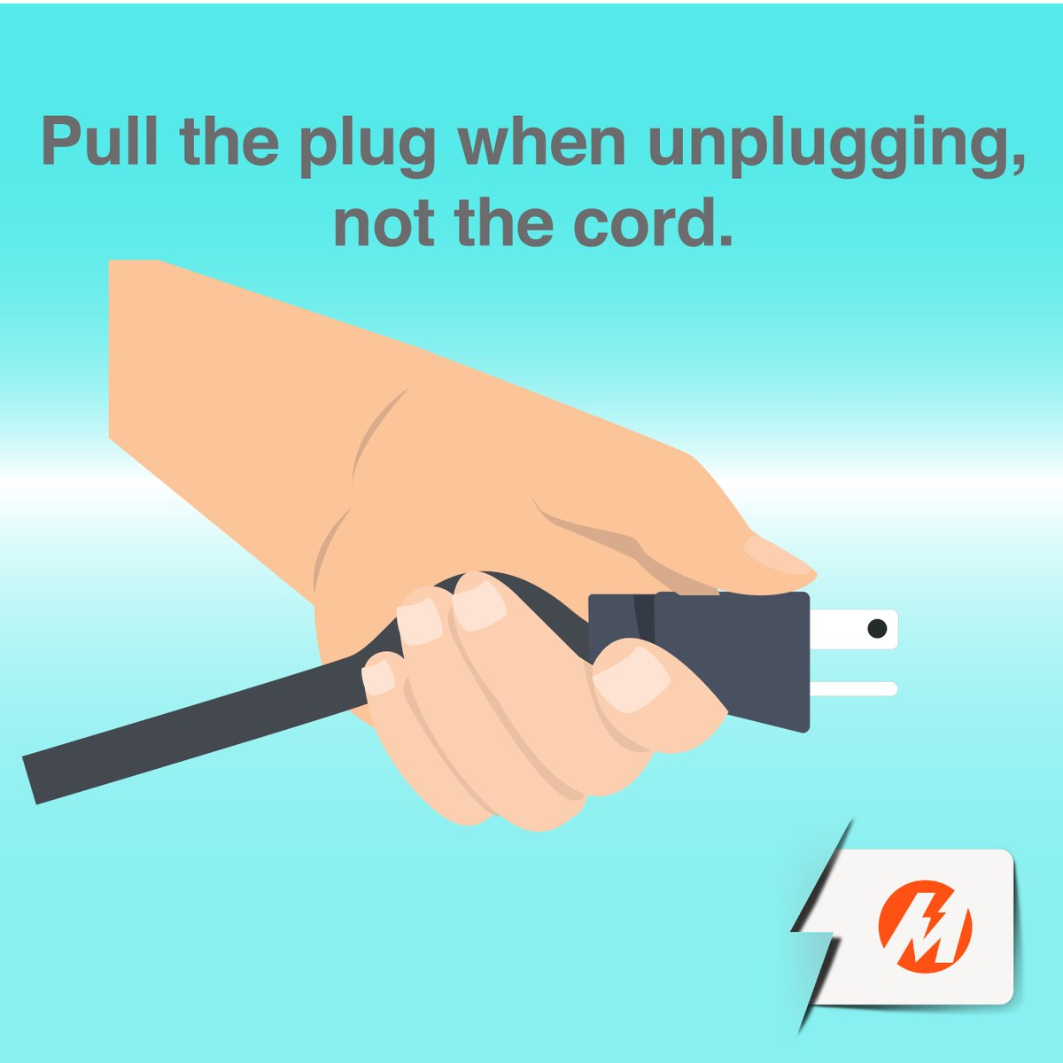 'Di lang feelings ang dapat hinuhugot, pati appliances!Kung mag-a-unplug, make sure sa plug nakahawak, hindi sa cord https://t.co/Ajz0XGKUCQ