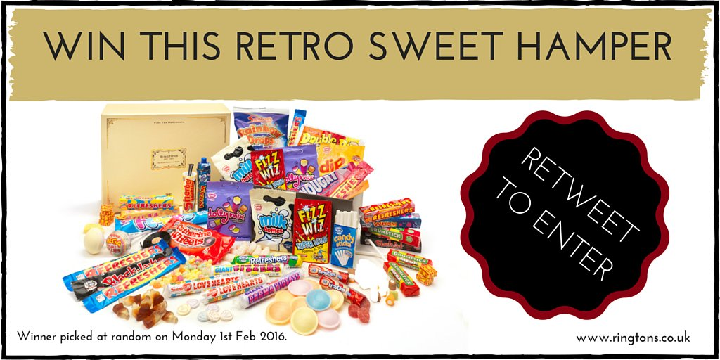 #Competition Time! Just RETWEET to enter. This hamper of retro sweeties could be yours! #Winning https://t.co/pl3OD21DOS