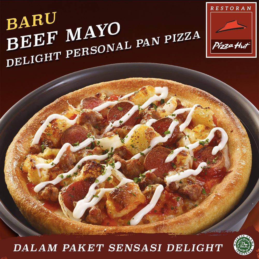 BARU! Personal Pan Pizza Beef Mayo dlm paket Sensasi Delight. Untuk Santap di Restoran dan Takeaway. https://t.co/EkyawWefeV