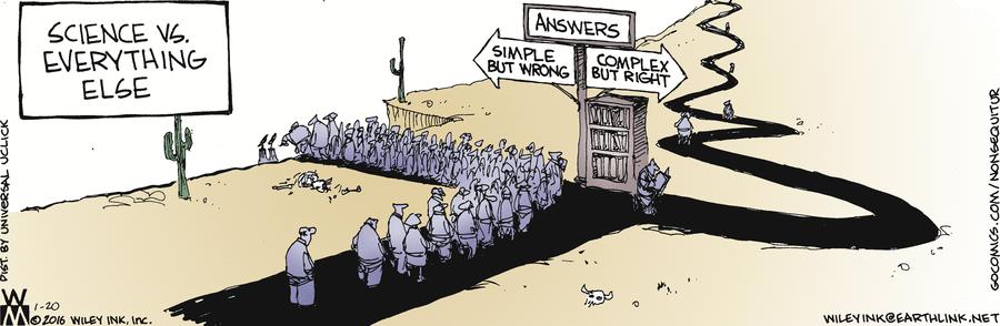 An interesting, provoactive cartoon about science :-) @gocomics https://t.co/0P2qxud3W9