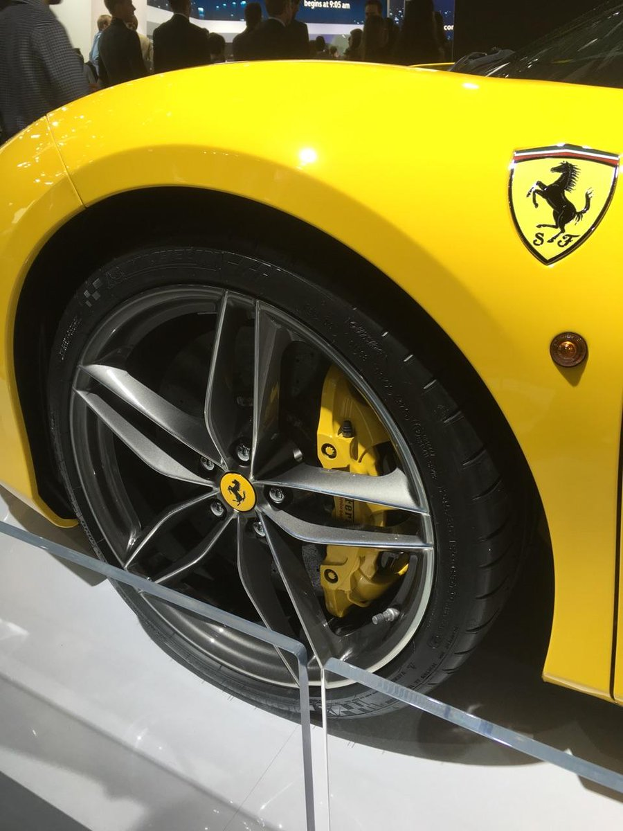 Nice day for a Ferrari on Michelin tires at #NAIAS https://t.co/FHMyZhjnQ0