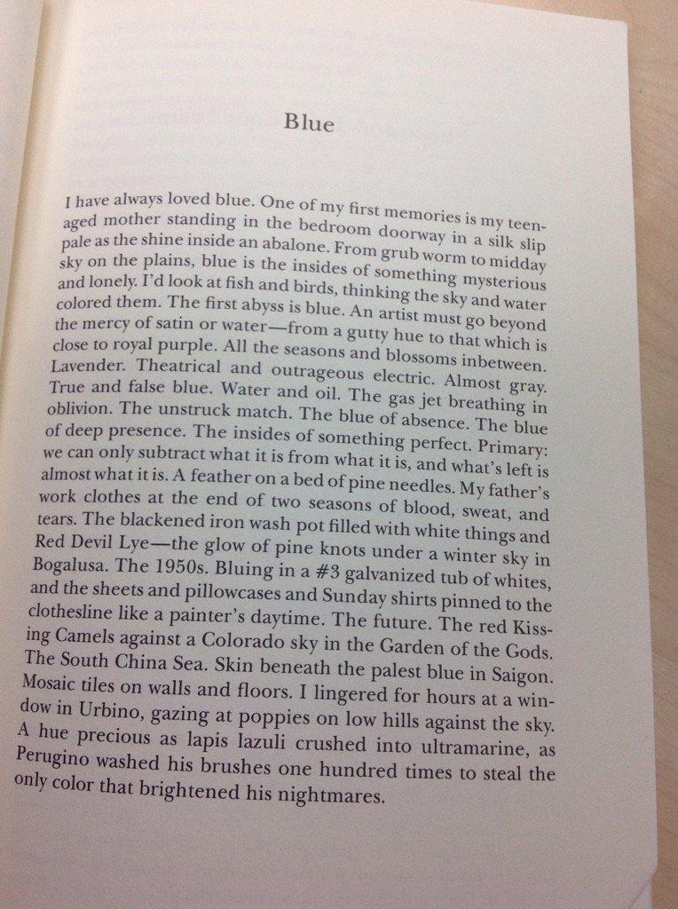 Beautiful, poetic short essay   Yusef Komunyakaa, Blue https://t.co/3ZwfBM2EQi