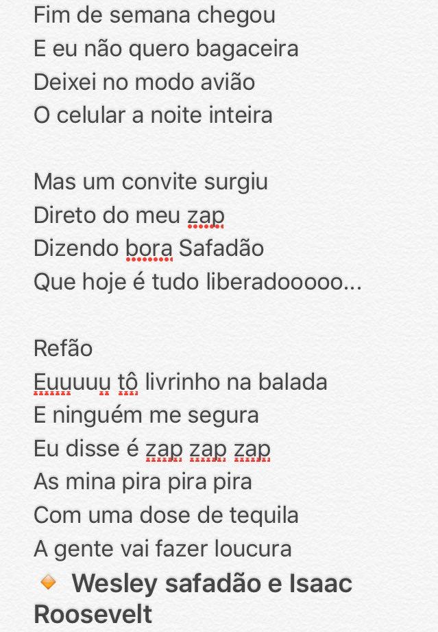 """MÚSICA """"LIVRINHO NA BALADA""""  #LivreComSafadao @wesleysafadao. Quem gostou da RT!! E diz: - olha safadão ❗️"""