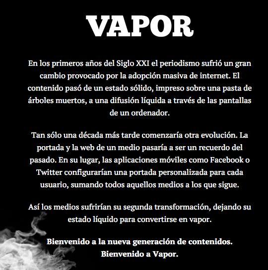 Ahora sí, hemos lanzado @vapormgz, nuestra nueva publicación. https://t.co/Zm8jSGIgdK