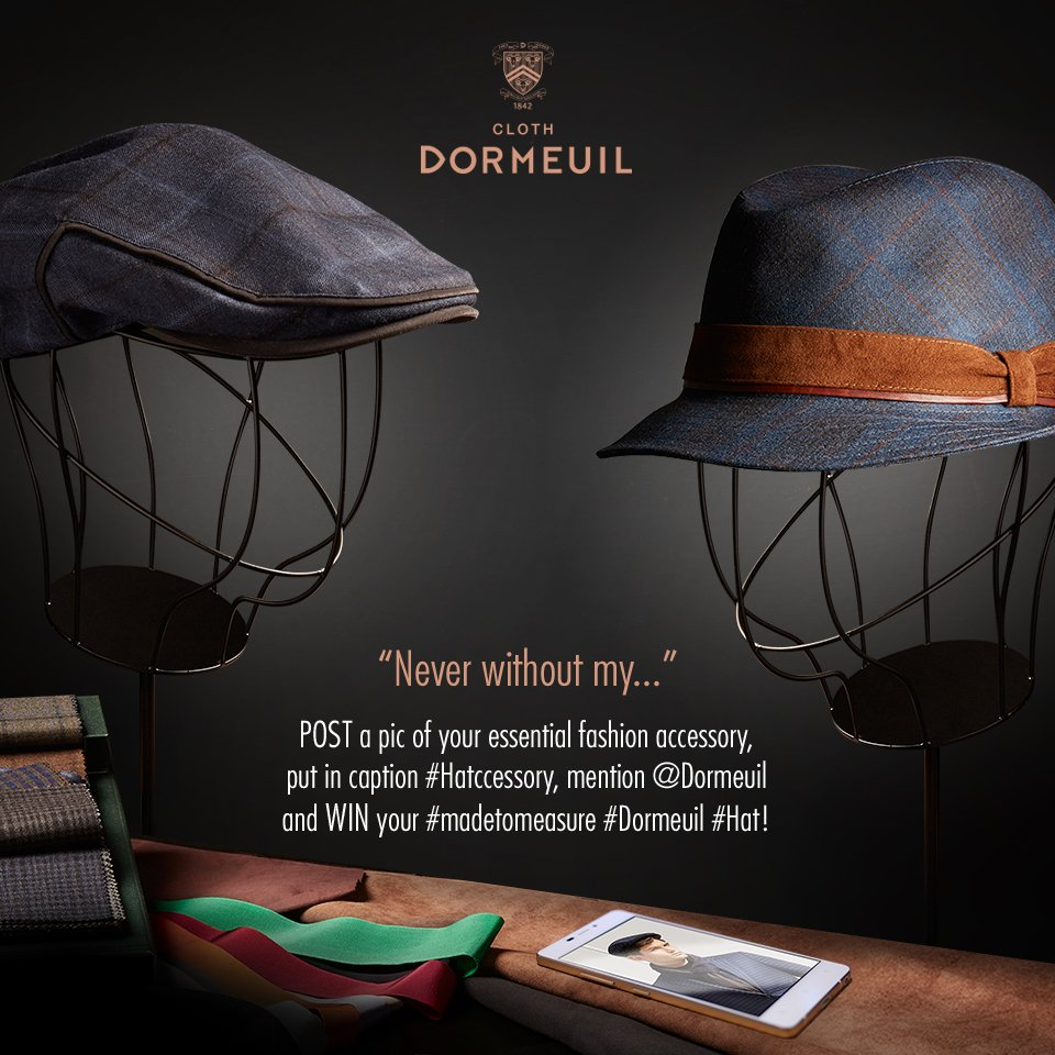 #CONTEST What's your essential fashion accessory? SHARE a pic of it & WIN a beautiful MTM Dormeuil hat! #hatccessory https://t.co/N0vl0dJqlO