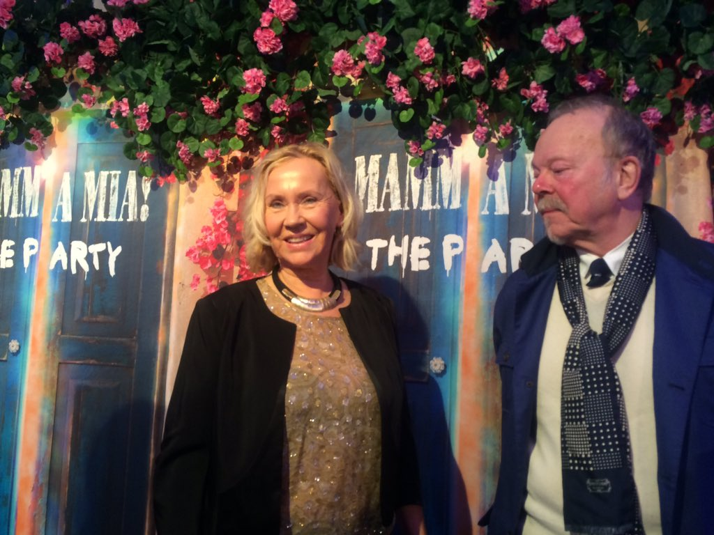 Wow #Agnetha is here. That's 3/4 of #Abba. Since #Björn is hosting the event it means their first reunion since 2008 https://t.co/TYFNmnIvLT