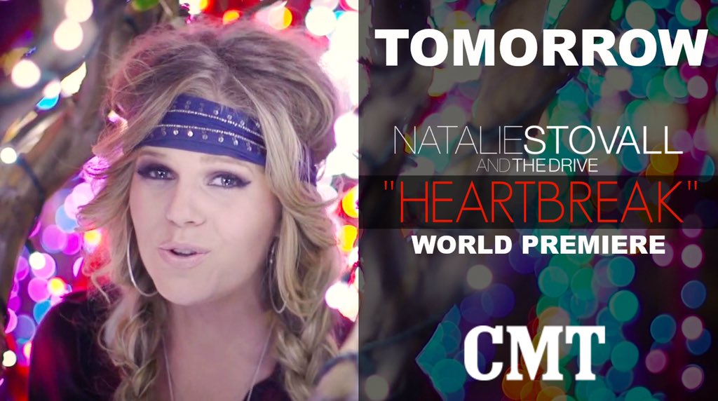 Y'all, tune in to @CMT TOMORROW for the world premiere of my new music video for #Heartbreak. SO EXCITED!!!
