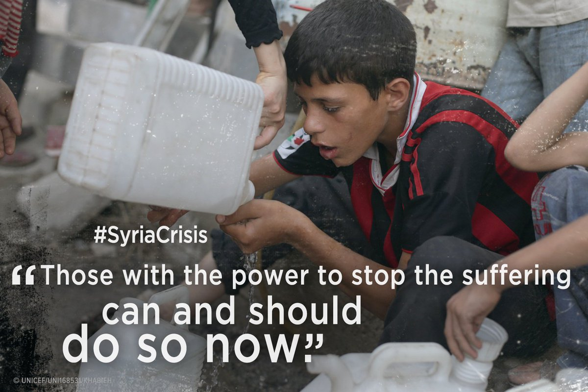Those w/ power to end the #SyriaCrisis should do so now. RT if you agree! Share our appeal: https://t.co/InnsycaUBf https://t.co/h95JJSCcBF