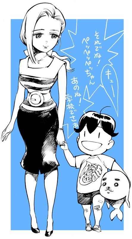 少年アシベ またアニメ化するのか~。昔描いたアシベとゴマちゃんとペッペッペッさん置いとこう