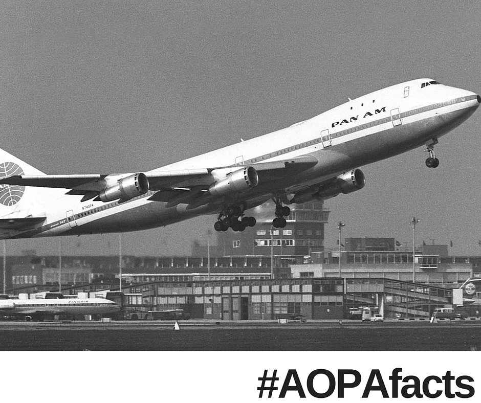 Did you know? On 1/21/1970 the Boeing 747 makes its first commercial flight from New York to London #AOPAfacts https://t.co/XKuhHkvHW5