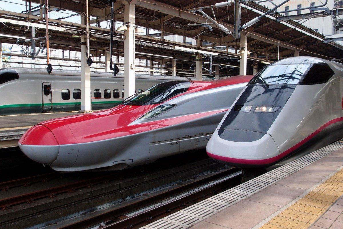 この2種類の新幹線は違うように見えて同じだったんですよ https://t.co/5PeJHiLqti