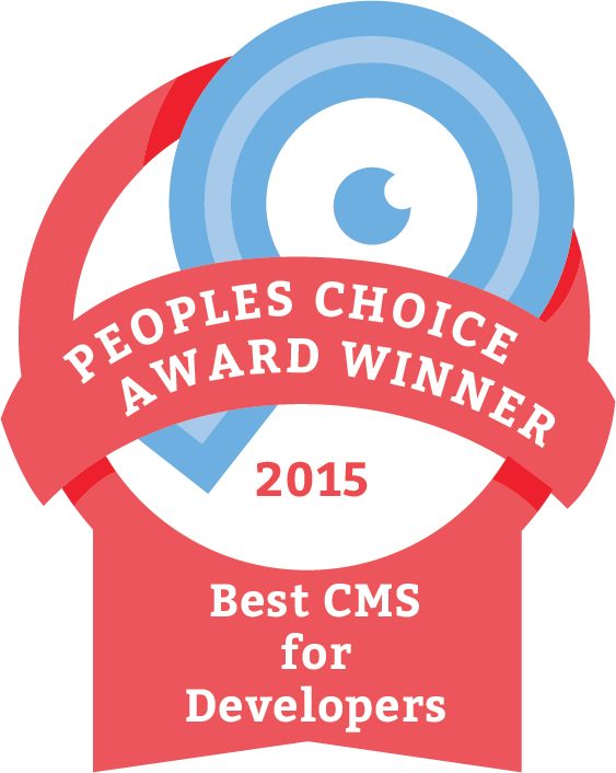 Announcing the 2015 Winner of Best #CMS for #Developers: @craftcms !  #cmsawards #craftcms https://t.co/bY3OD9yS32