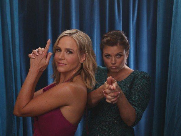 Badass girls! @juliebenz & @TiffaniThiessen at the #DinnerAtTiffanis photobooth<3 Can't wait for this! https://t.co/doW8URa8VM