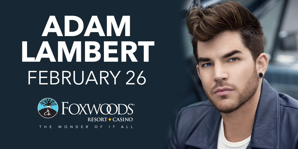 It'll be anything but a Ghost Town Feb. 26 when @adamlambert takes the #Foxwoods stage! https://t.co/nqGUqNOpnT https://t.co/aDossut58N