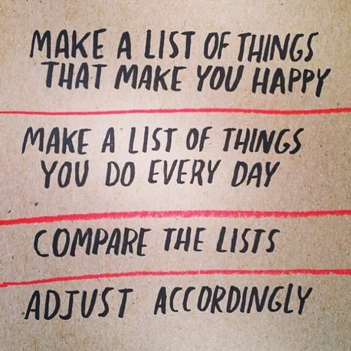Make a list of things that make you happy. make a list of things ...