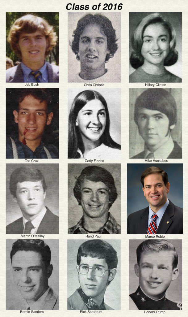 Presidential candidates in high school. Amazed at how little @marcorubio has changed! https://t.co/A3C3vaDv6e https://t.co/DD83Z3YsBN