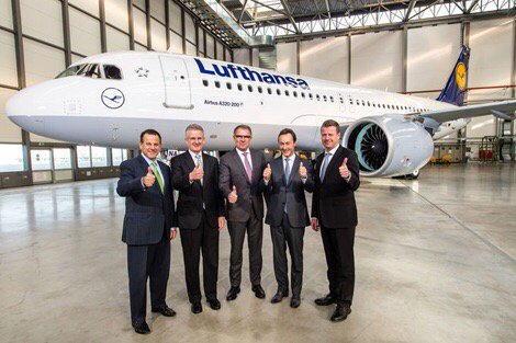 Lufthansa takes delivery of world