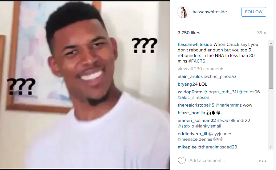 CZTOO1fWYAATH1m hassan whiteside called out barkley the only way he knew how with