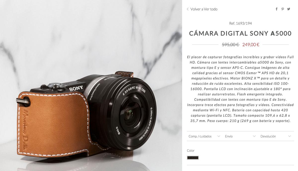Acojonante. Sony A5000 por 249 € en la tienda de Massimo Dutti.  https://t.co/o1nXs3JZga https://t.co/wKZwK0oLi1