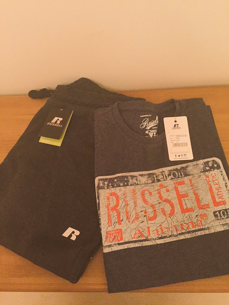 A little Friday give away. RT and favourite to be in with a chance to win some @RussellAthl_EU gear.