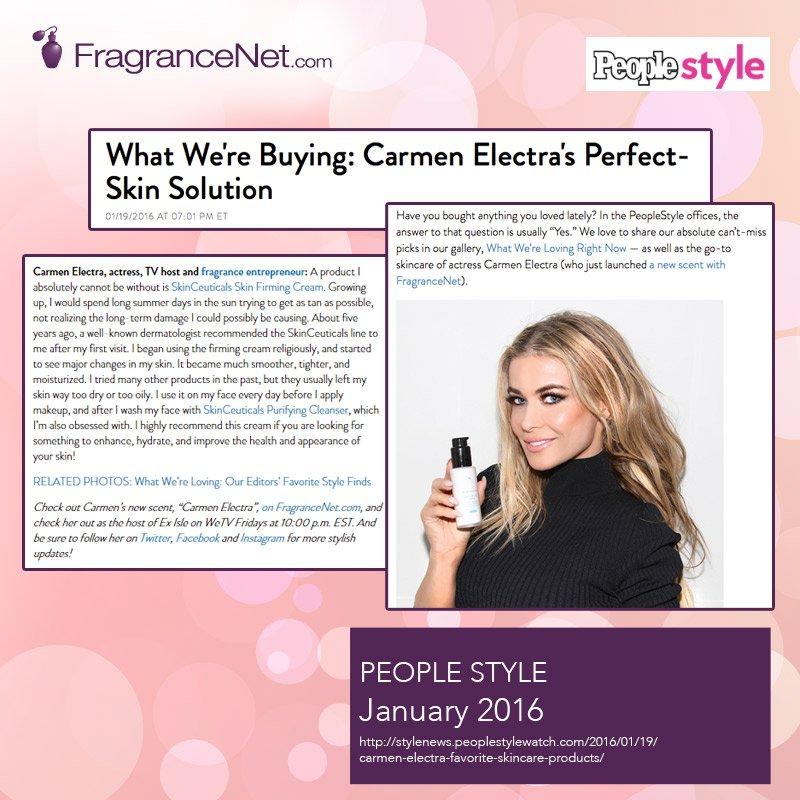 RT @FragranceNet: The secret to getting perfect skin like @carmenelectra is here! @People_style @FragranceNet! https://t.co/KrHOsXCWwE http…