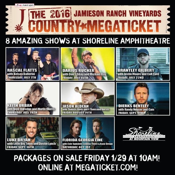 Your 2016 Jamieson Ranch Vineyards Country Megaticket is here! Details: https://t.co/AtwjpM3M84 #MegaTicket https://t.co/2HPuIE4suQ