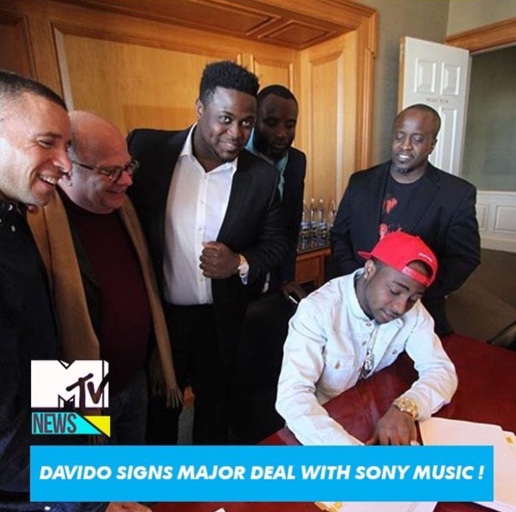 So proud of my brother @iam_Davido first African musician to sign a Global deal with @SonyMusicGlobal