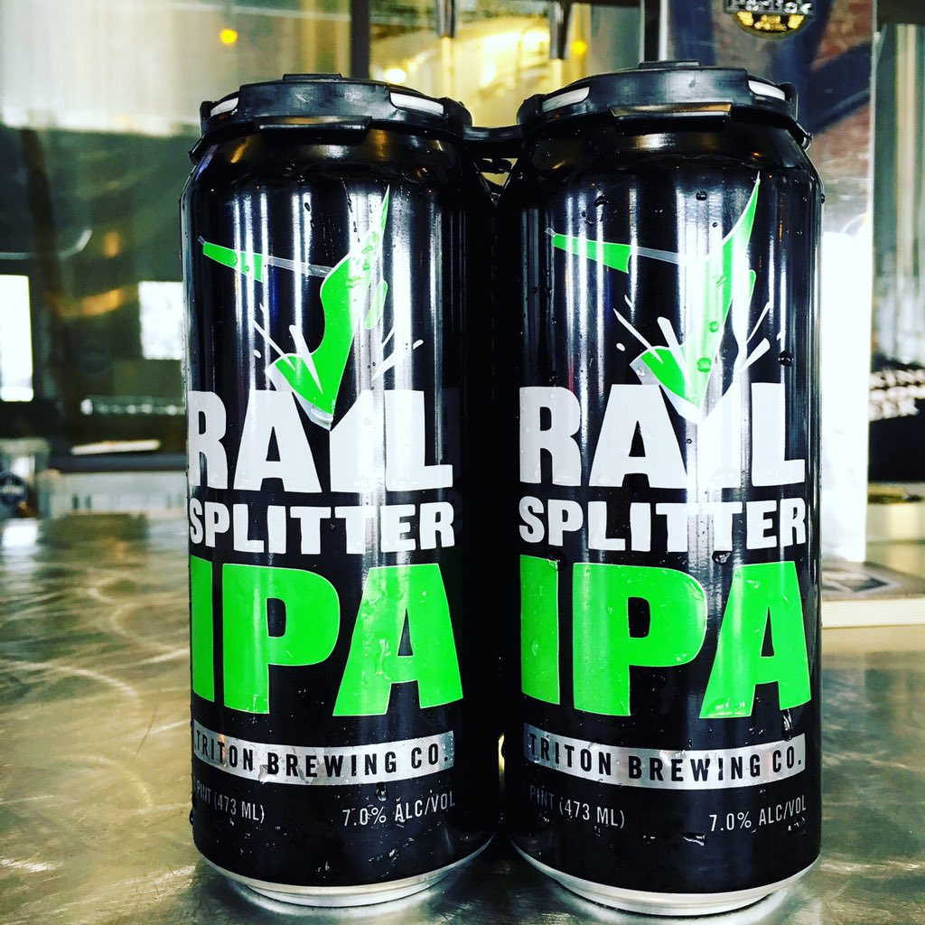 To honor #BeerCanAppreciationDay Sunday; today we are releasing out first can ever! 4-pk/16oz #RailsplitterIPA $10 https://t.co/X2kjoZIdEL