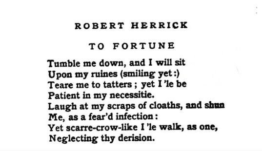 Robert Herrick fortune