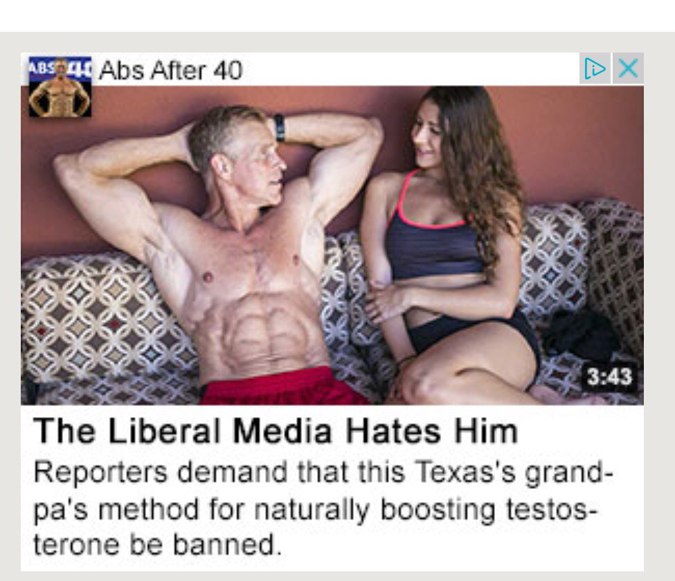 I've always said it: if it's one thing the liberal media can't handle, it's shredded abs. https://t.co/1bfnnQl4aa