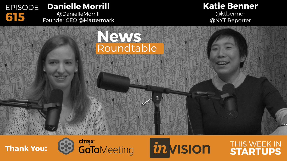 News Roundtable! @jason, @DanielleMorrill @Mattermark @ktbenner @NYT dive into market, IPOs https://t.co/4ZJ8RzyrXC https://t.co/XPHBZxaxUK