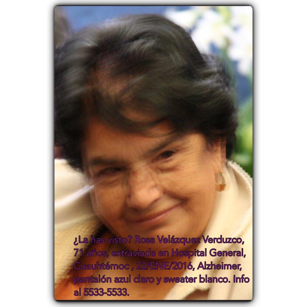 ¿Me regalarían un RT para @AlertaPlateada ? Buscamos a Doña Rosa y se agradecería mucho tu ayuda. https://t.co/Buo3ynQkn4