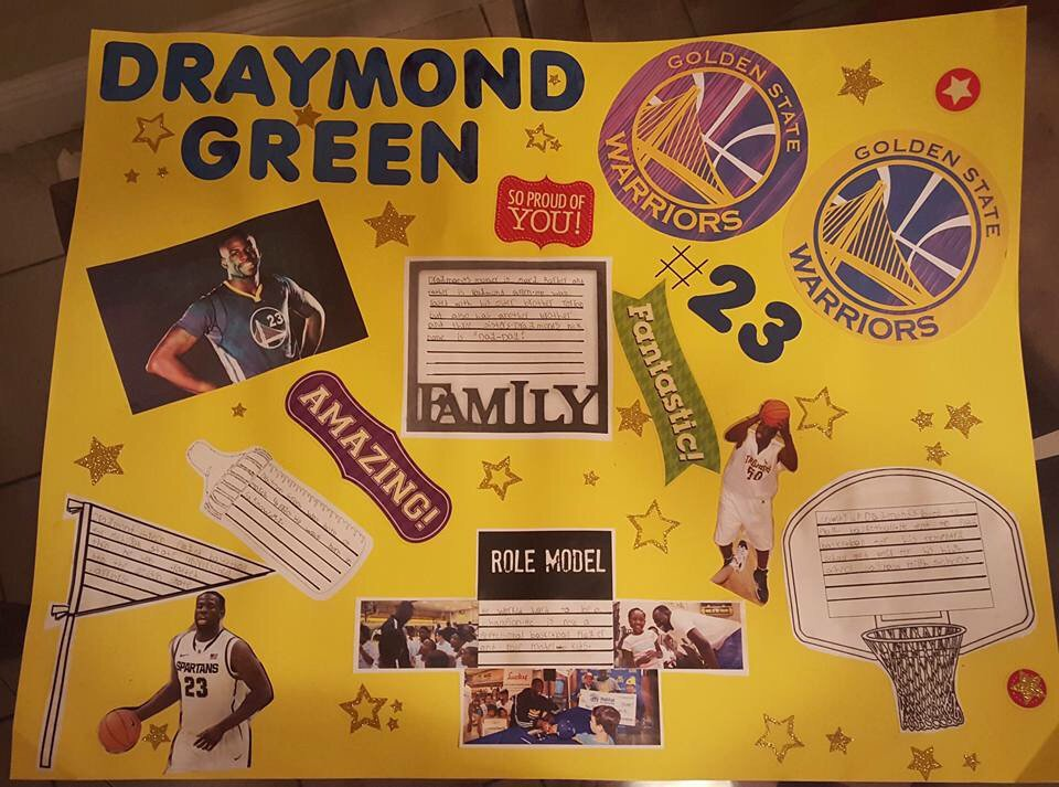 @BabersGreen my friends daughter is doing her black history project on #draymond  he's an all-star in her eyes https://t.co/ZS6WviC2cH