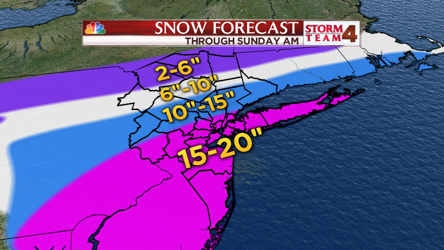 UPDATED Snow totals forecast:  This could be one for the record books! https://t.co/KBcWItRKBz