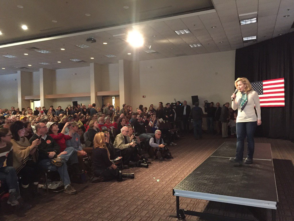 Heidi Cruz tells overflow crowd in Ames @tedcruz did what people wanted in DC not what party wanted https://t.co/jCV86SWvV1