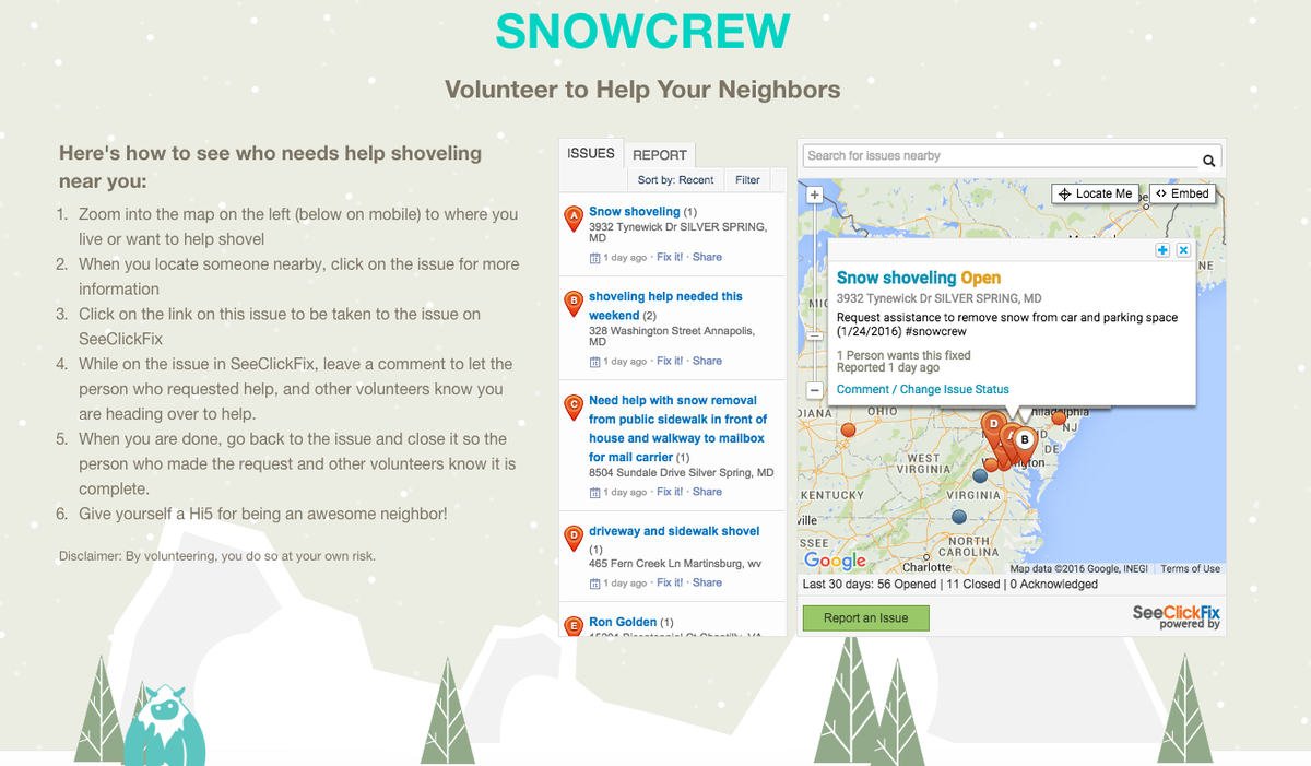 4,200 Open snow requests on @SeeClickFix now. See who needs shoveling help with @SnowCrewOrg https://t.co/CTYevtmNJS https://t.co/gFeRVhcAtr