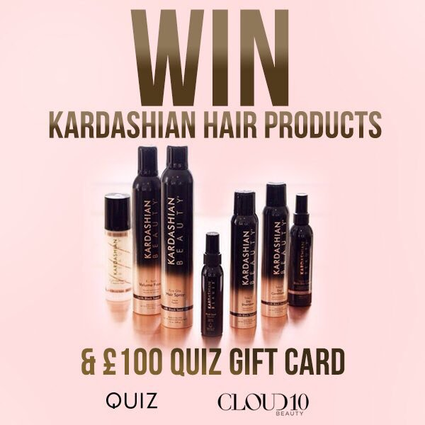 #WIN £100 QUIZ gift card & £80 worth of Kardashian hair products! Just RT and follow us and @quizclothing to enter https://t.co/c84Zt88wWZ