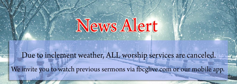 On Sunday, stay home & be safe. And access previous sermons via https://t.co/zM8Bh5Fu9g or the mobile app. #fbcglive https://t.co/oE899ANTYq