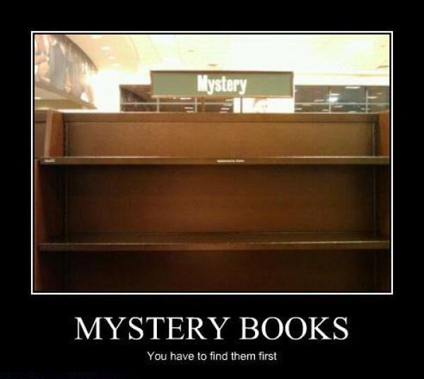 Mystery books: you have to find them first https://t.co/ChpwYvkBwC