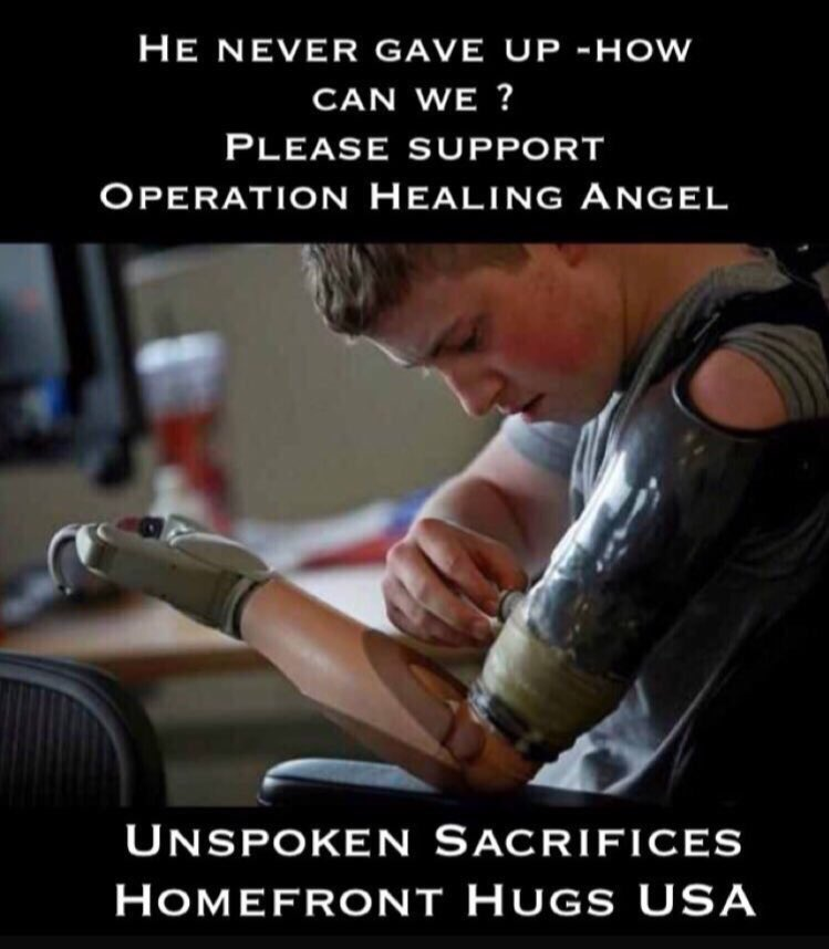 We can't give up either - we need to be there for our heroes when they need us https://t.co/LTvc4woyg9 https://t.co/YCllO8quGU