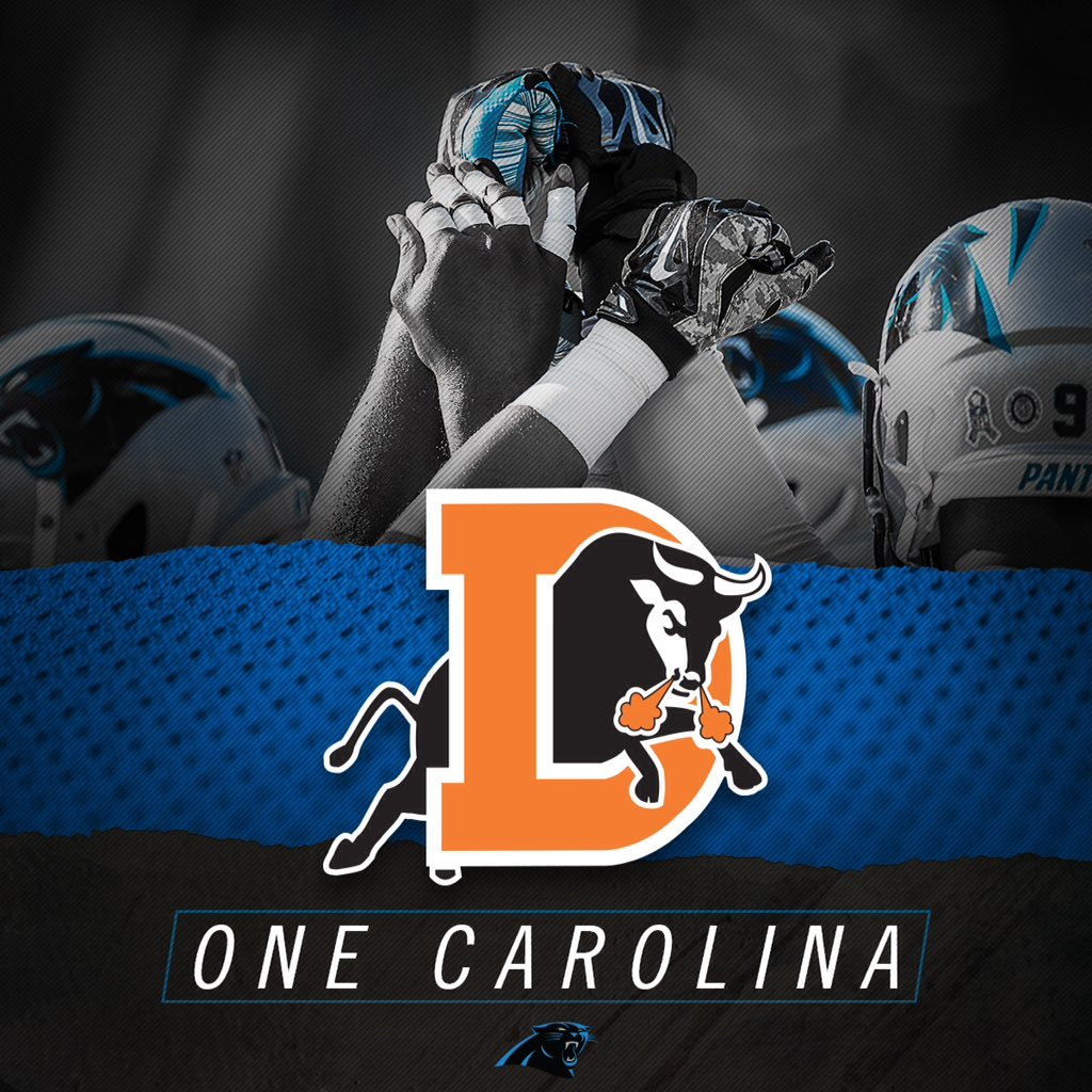 24 hours until the @Panthers are back at it, and the #DurhamBulls are behind them. #OneCarolina #KeepPounding https://t.co/cgiDyI6eDw