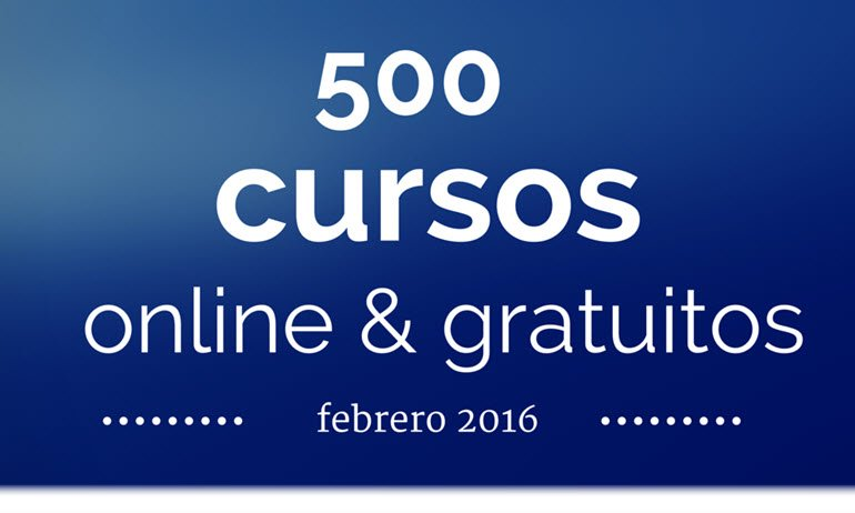 500 cursos universitarios, online y  gratuitos que inician en febrero https://t.co/IRfXKfT2Pw https://t.co/7vCTRC73wI