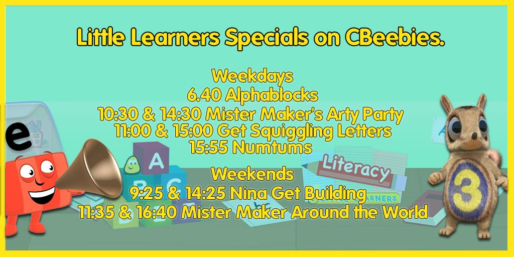 numeracy #literacy & #art specials on cbeebies this week ...