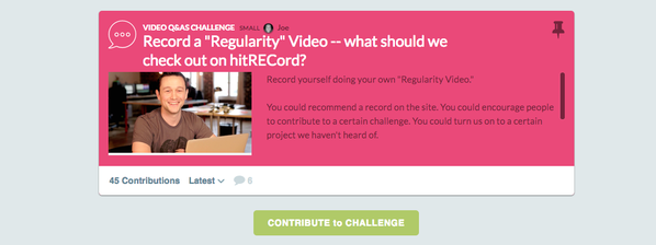 RT @hitRECord: Anybody & everybody can record their own Regularity video. Here's how to get involved -- https://t.co/rJbyXWvUvh https://t.c…