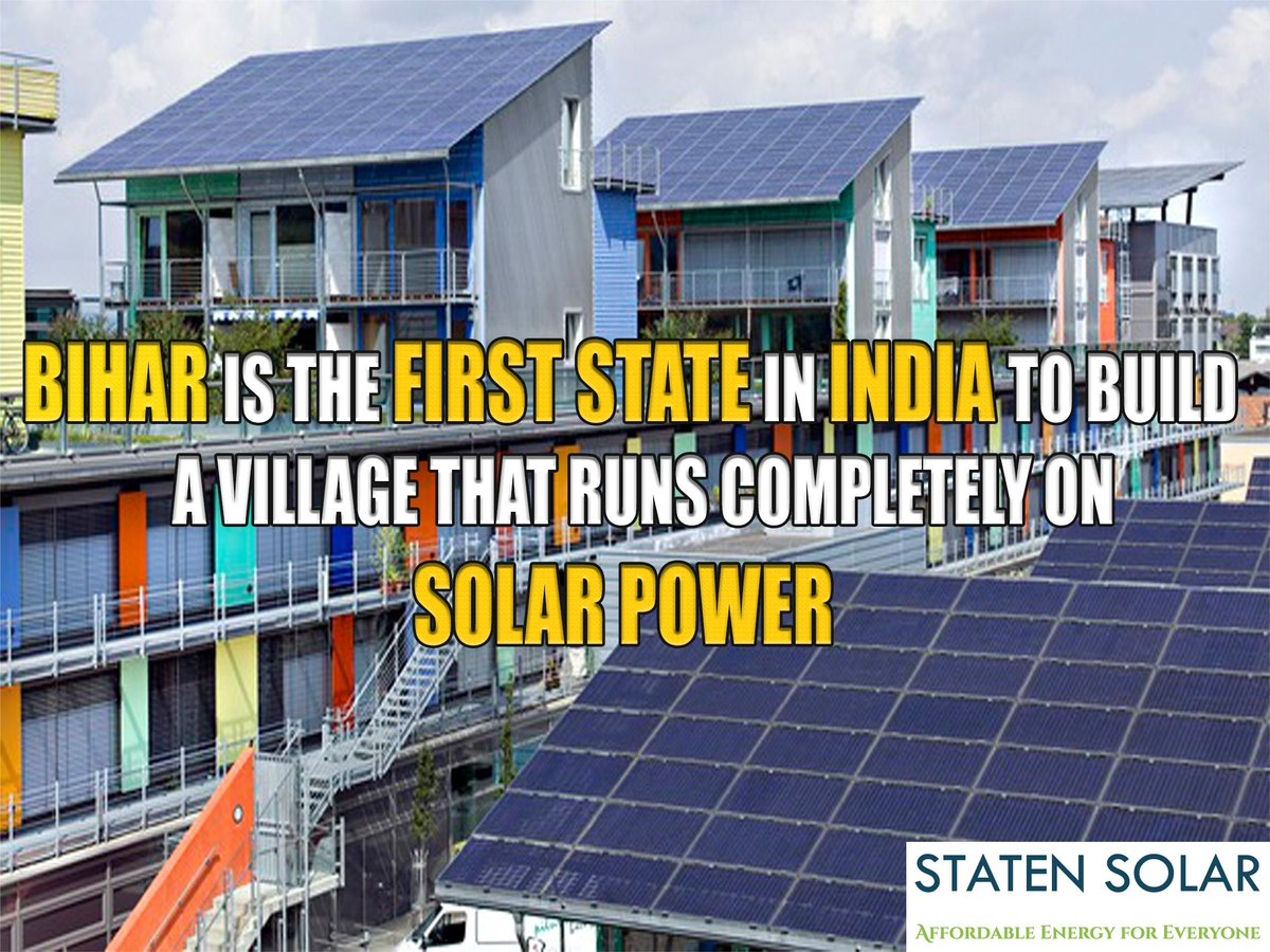 Dharnai, a village in Bihar, is one of India's first villages powered entirely by solar electricity. https://t.co/Ct0LZXacfD